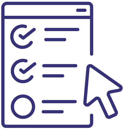 QA Onboarding (contract icon with checkmarks on the paper and a cursor icon hovering)